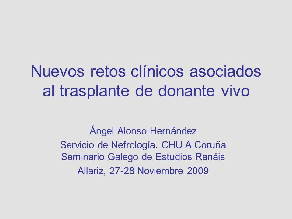 Nuevos retos clínicos asociados al trasplante de donante vivo