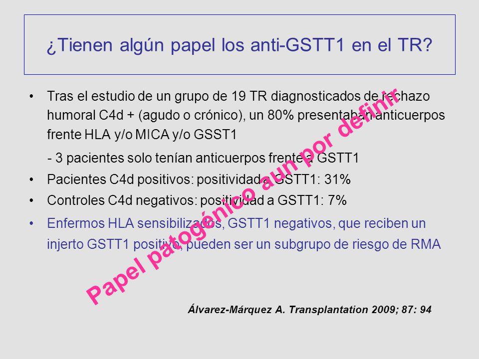 ¿Tienen algún papel los anti-GSTT1 en el TR
