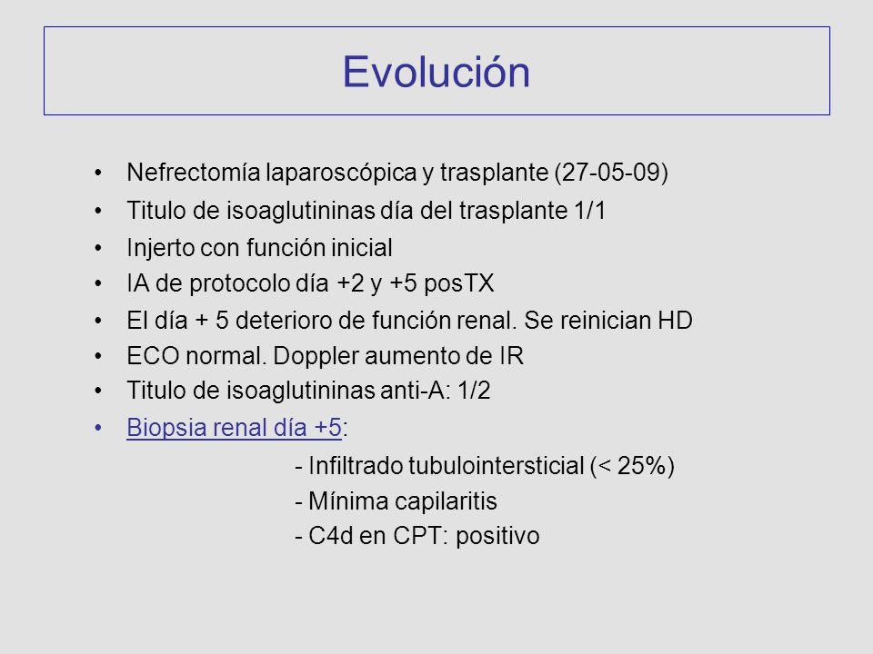 Evolución Nefrectomía laparoscópica y trasplante (27-05-09)