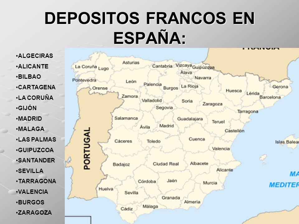 DEPOSITOS FRANCOS EN ESPAÑA: