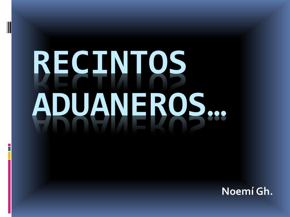 RECINTOS ADUANEROS… Noemí Gh.