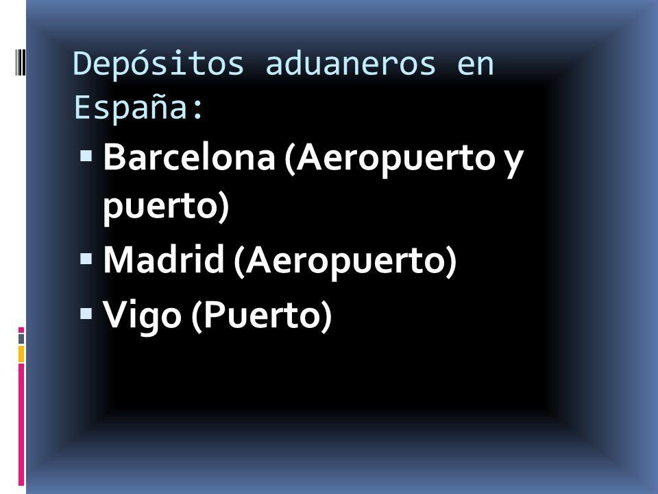 Depósitos aduaneros en España: