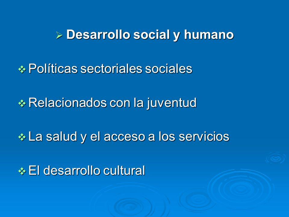 Desarrollo social y humano