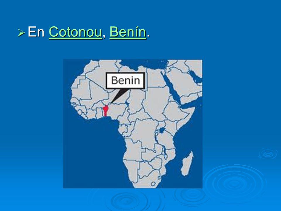 En Cotonou, Benín.