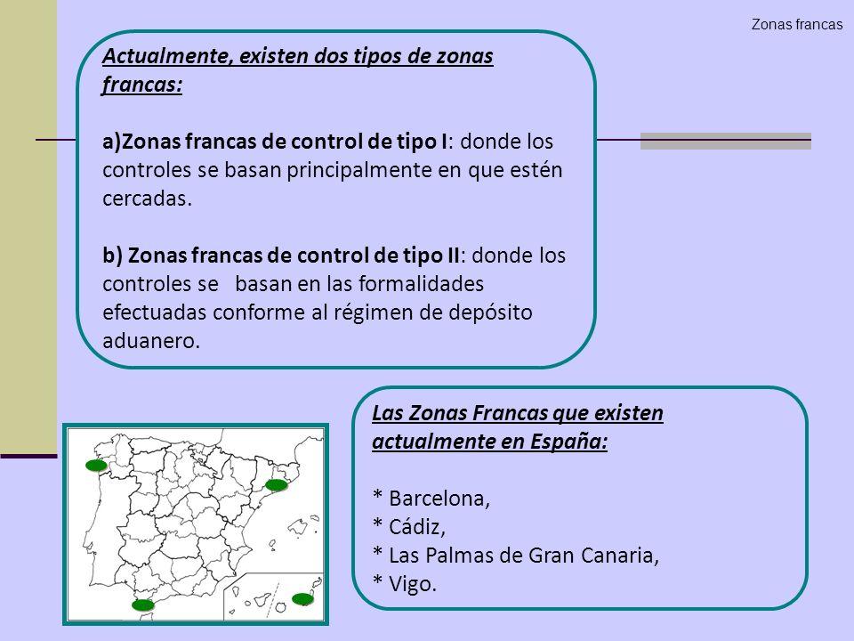 Actualmente, existen dos tipos de zonas francas: