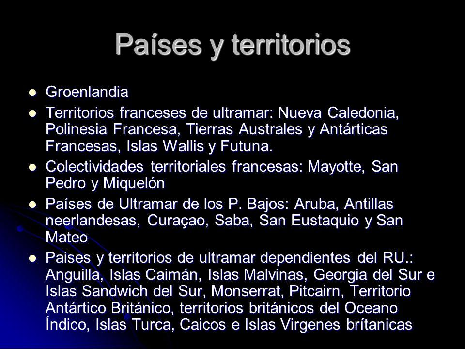 Países y territorios Groenlandia