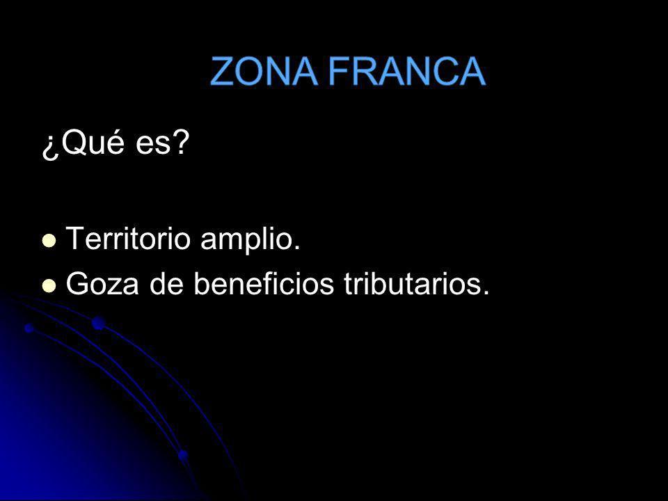 ZONA FRANCA ¿Qué es Territorio amplio.
