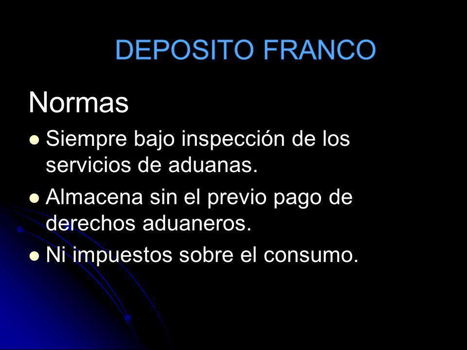 Normas DEPOSITO FRANCO