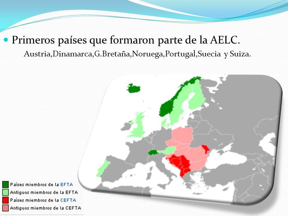 Primeros países que formaron parte de la AELC.