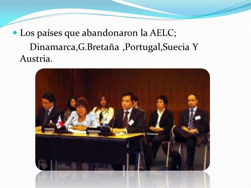 Los países que abandonaron la AELC;