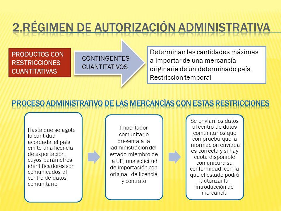 2.RÉGIMEN DE AUTORIZACIÓN ADMINISTRATIVA
