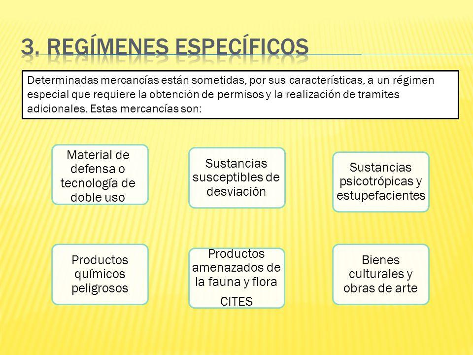 3. REGÍMENES ESPECÍFICOS