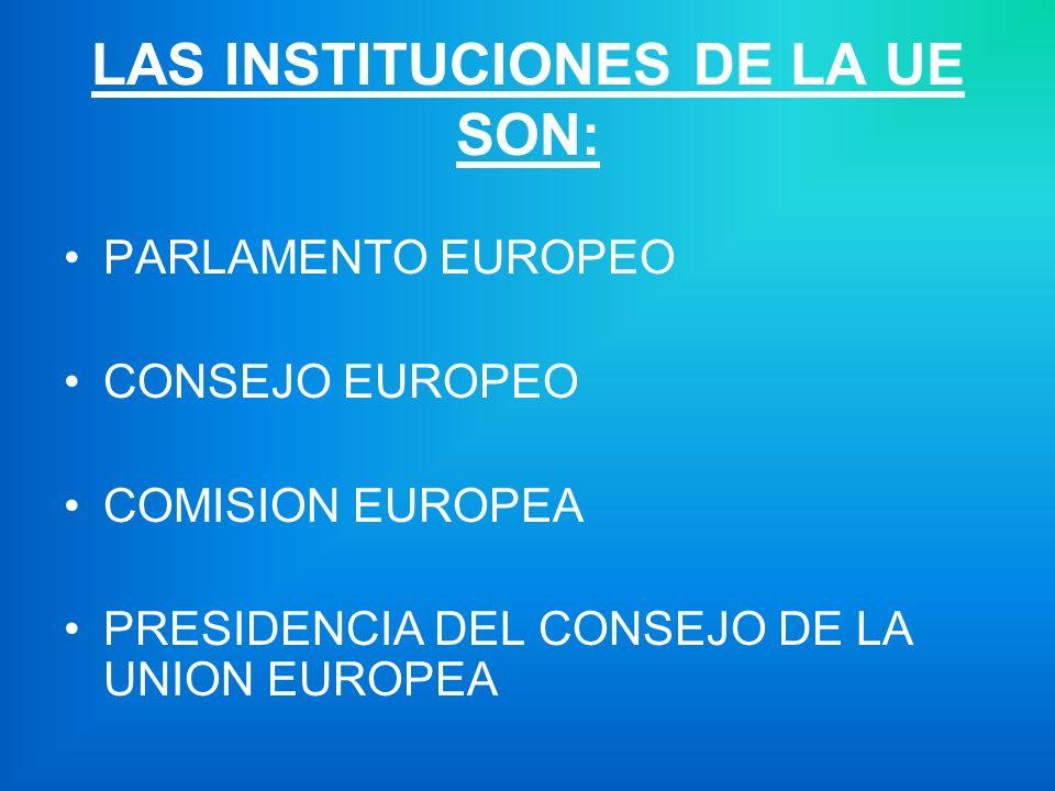 LAS INSTITUCIONES DE LA UE SON: