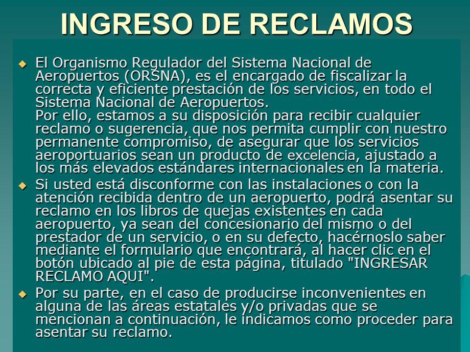 INGRESO DE RECLAMOS