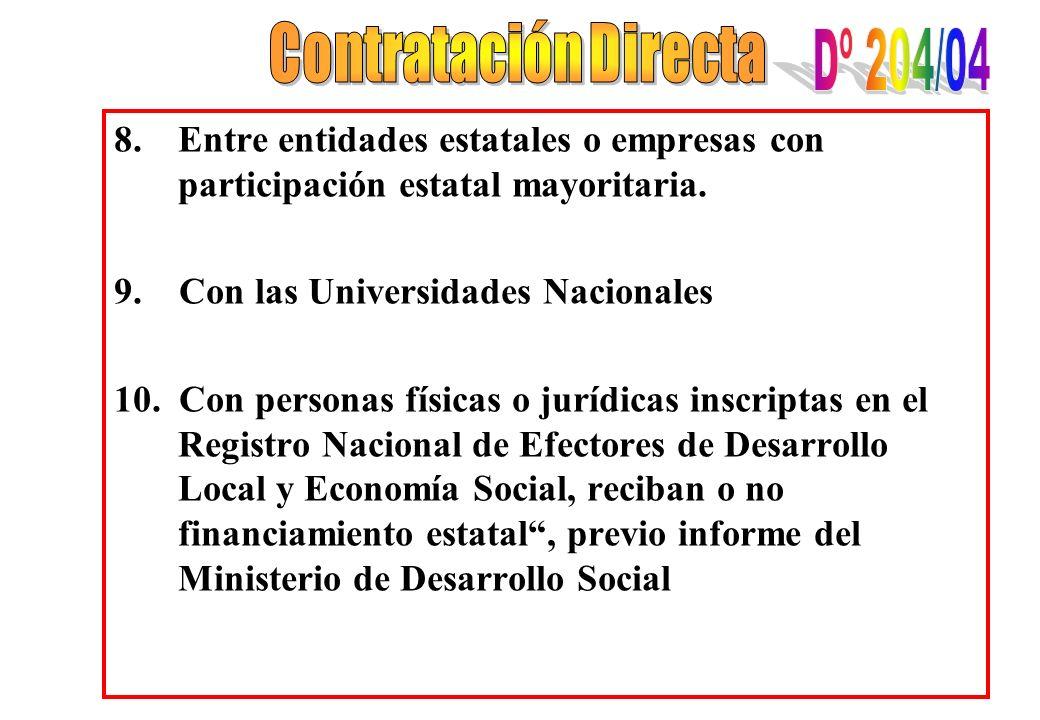 Contratación Directa Dº 204/04