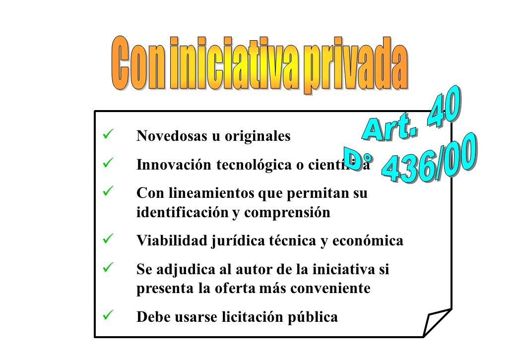 Con iniciativa privada