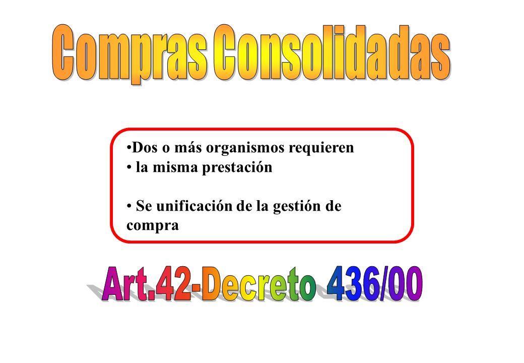 Compras Consolidadas Art.42-Decreto 436/00