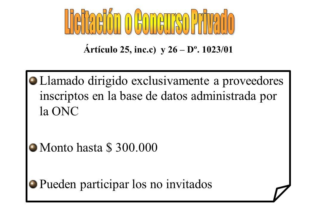 Licitación o Concurso Privado