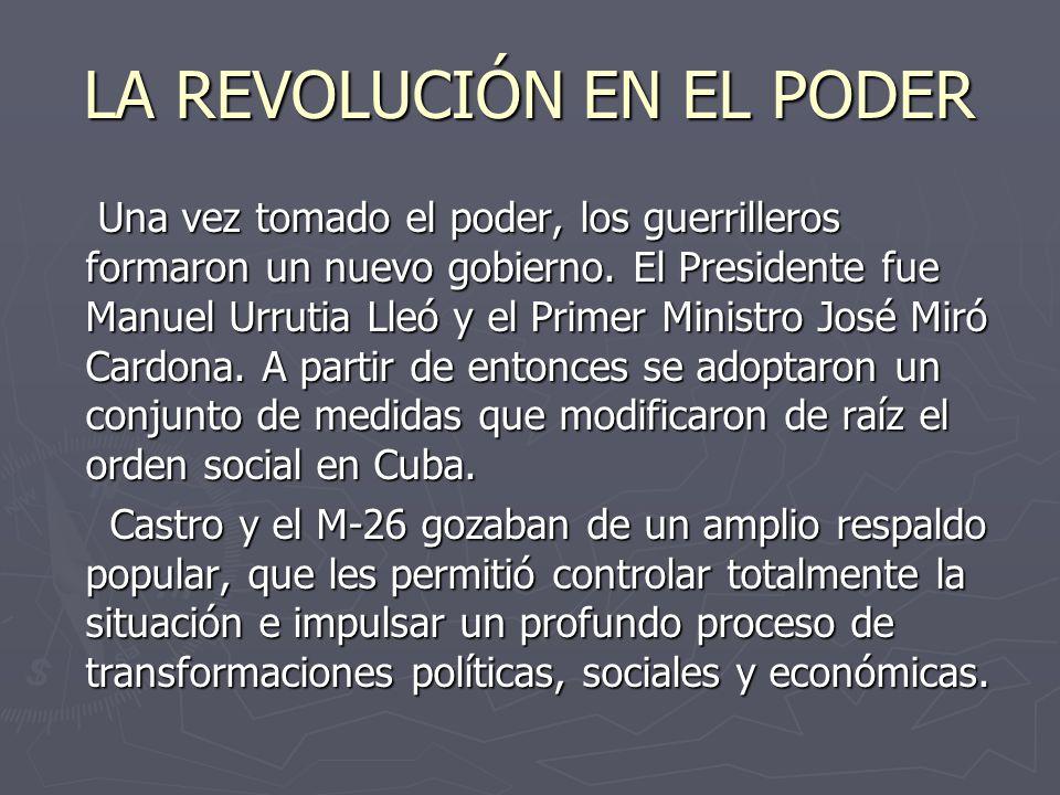 LA REVOLUCIÓN EN EL PODER