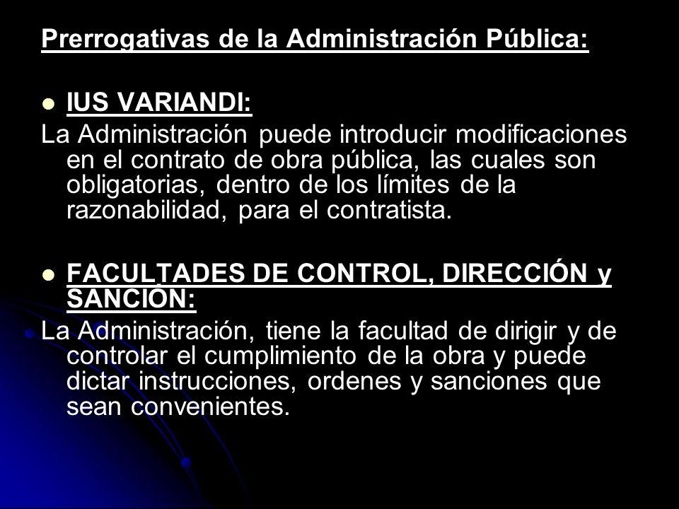 Prerrogativas de la Administración Pública: