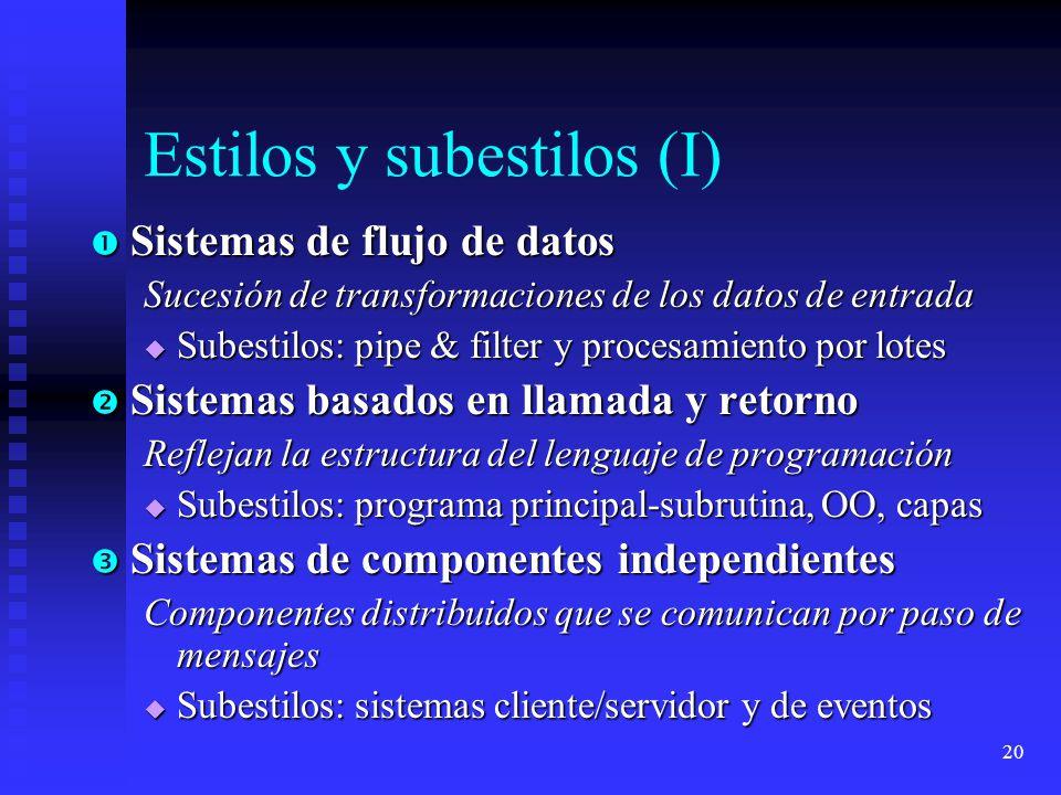 Estilos y subestilos (I)