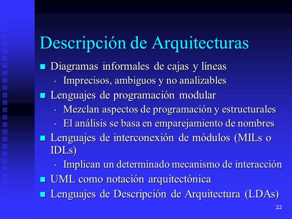 Descripción de Arquitecturas