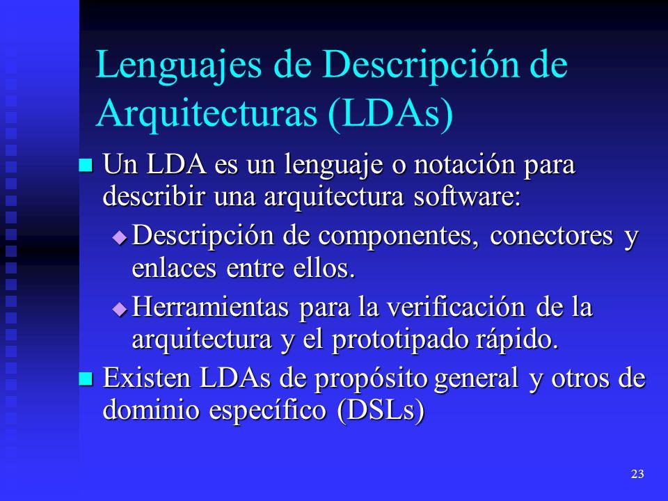 Lenguajes de Descripción de Arquitecturas (LDAs)