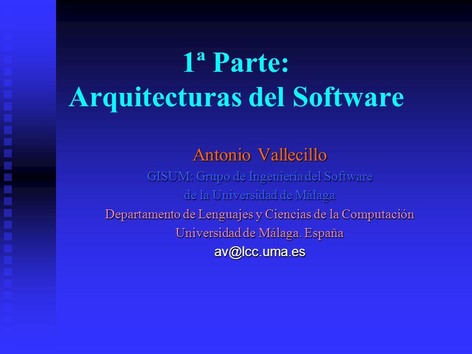 1ª Parte: Arquitecturas del Software