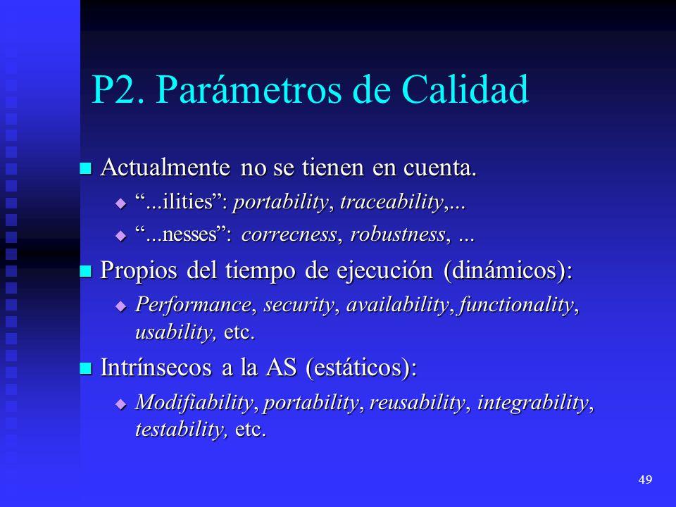 P2. Parámetros de Calidad
