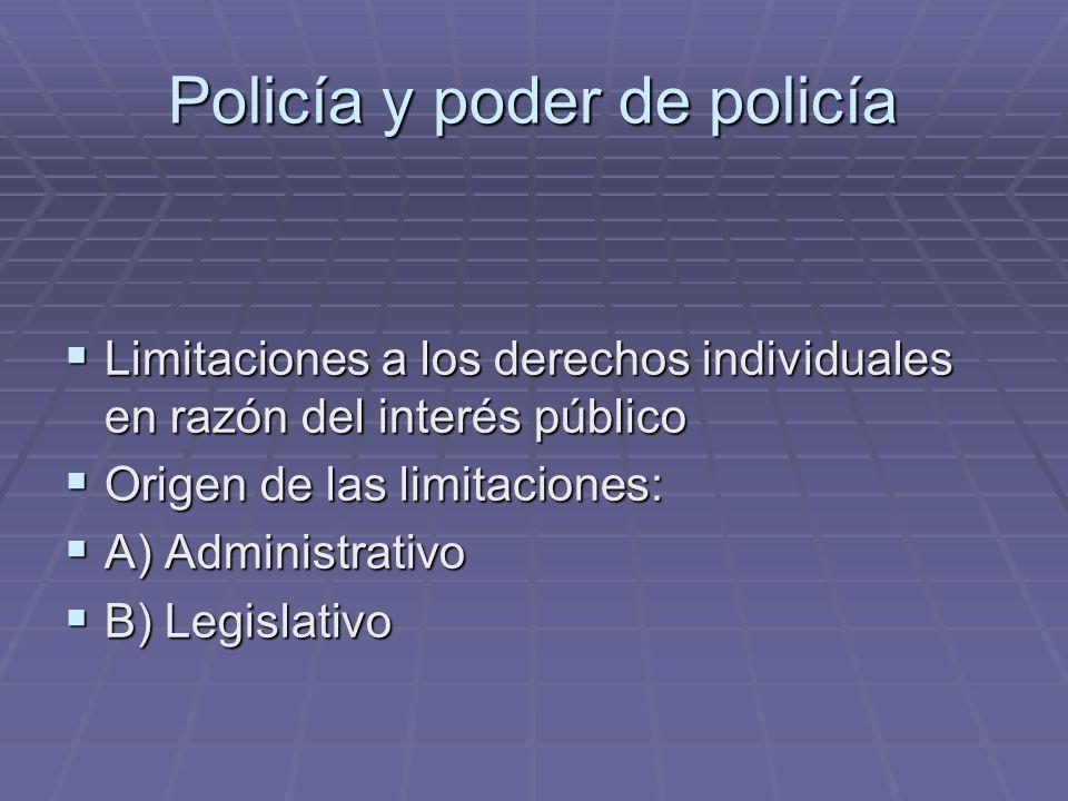 Policía y poder de policía