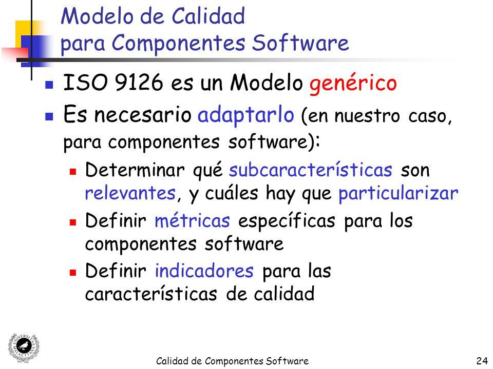 Modelo de Calidad para Componentes Software