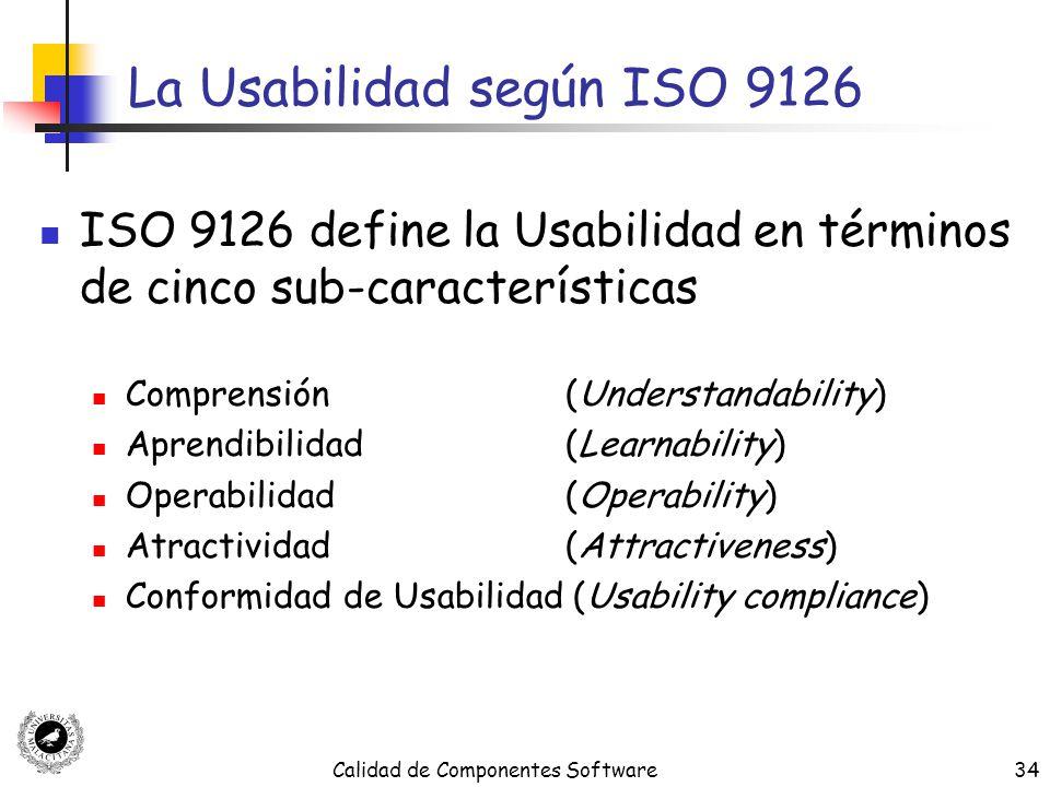 La Usabilidad según ISO 9126