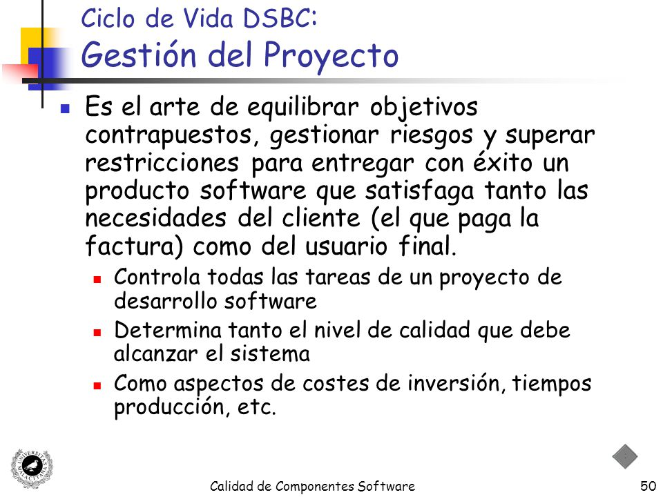 Ciclo de Vida DSBC: Gestión del Proyecto