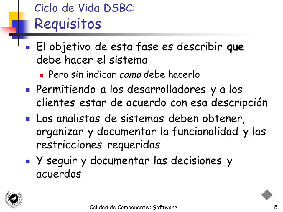 Ciclo de Vida DSBC: Requisitos