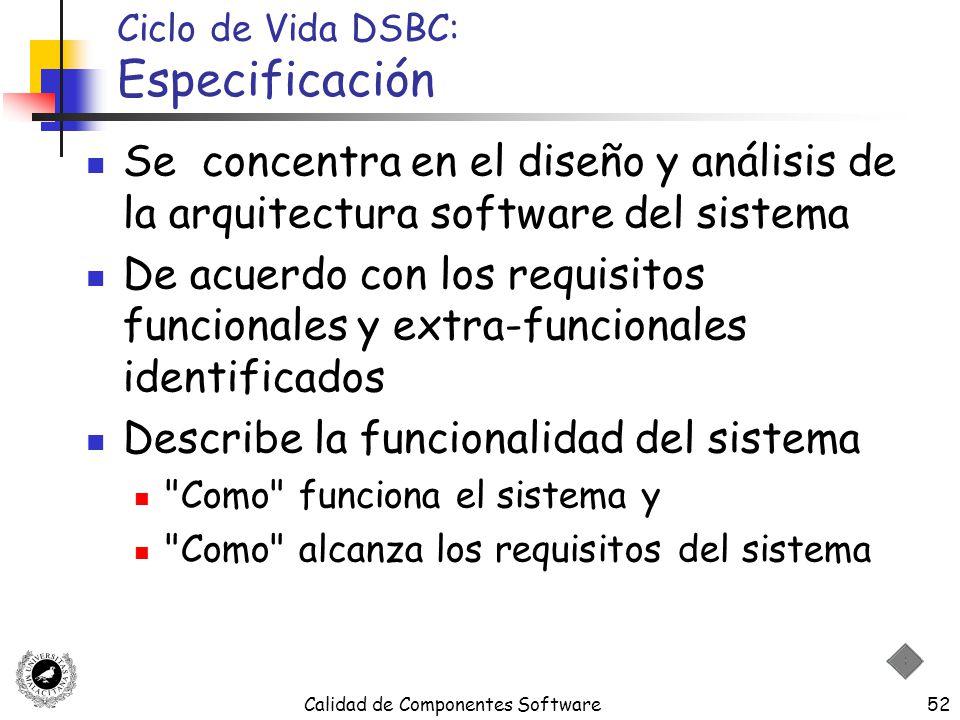 Ciclo de Vida DSBC: Especificación