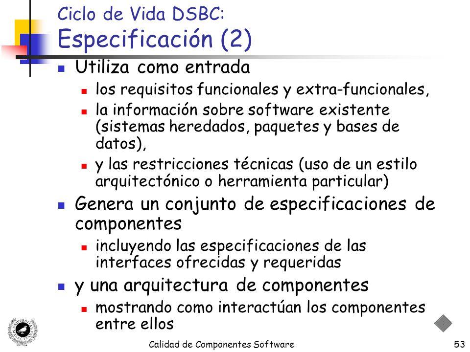 Ciclo de Vida DSBC: Especificación (2)