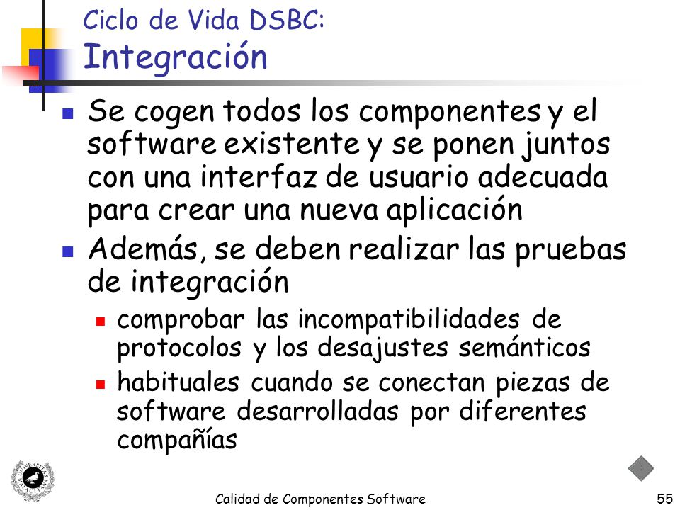 Ciclo de Vida DSBC: Integración