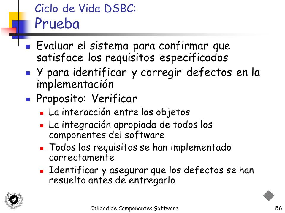 Ciclo de Vida DSBC: Prueba