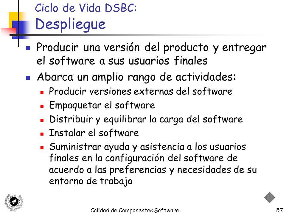 Ciclo de Vida DSBC: Despliegue