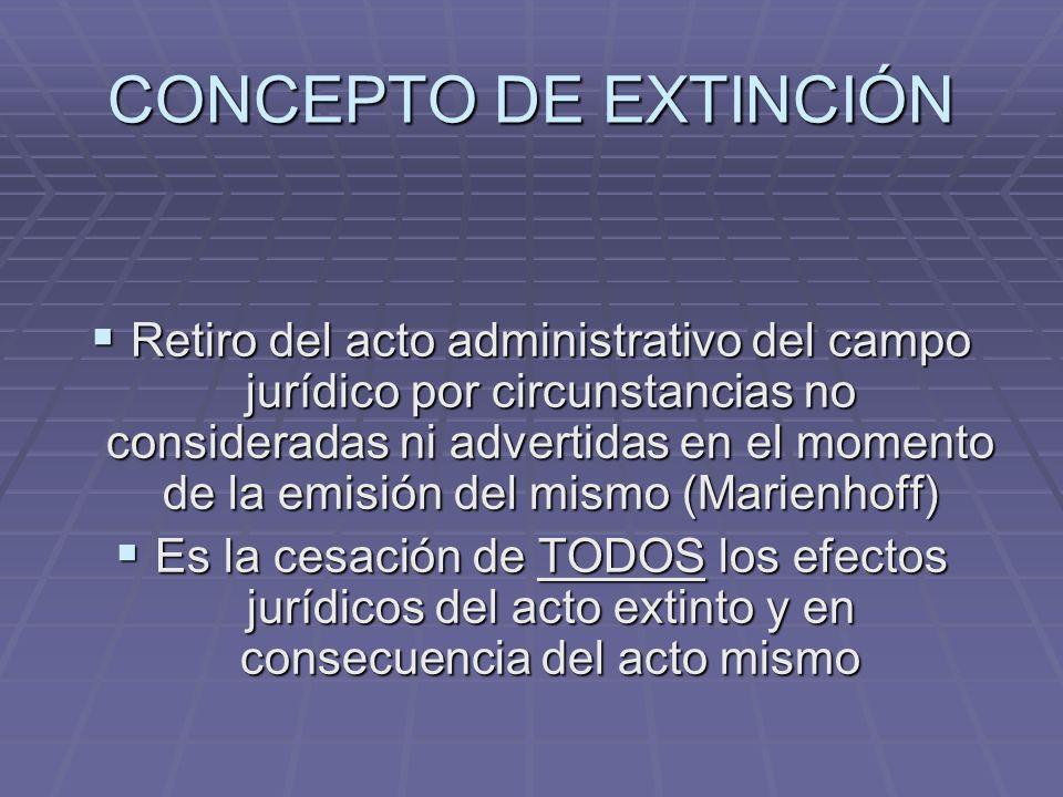 CONCEPTO DE EXTINCIÓN