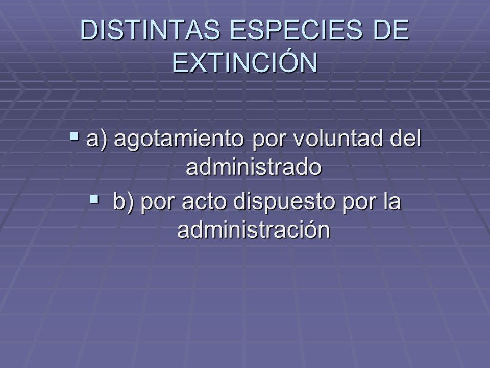 DISTINTAS ESPECIES DE EXTINCIÓN