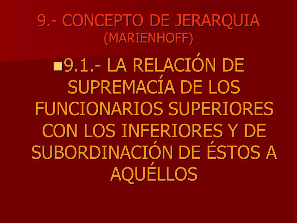 9.- CONCEPTO DE JERARQUIA (MARIENHOFF)