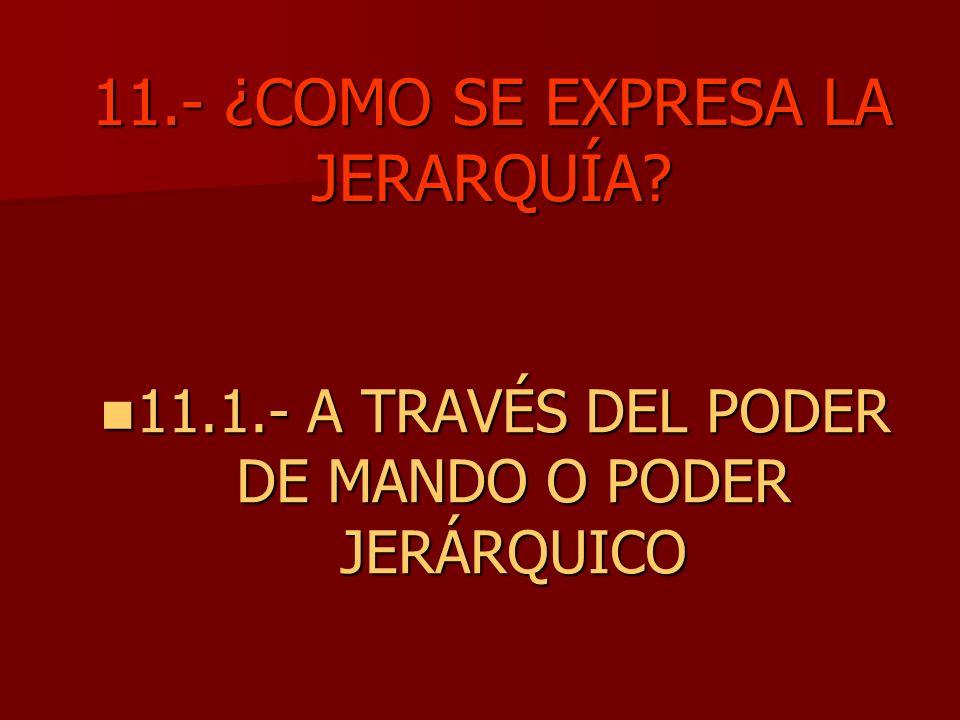 11.- ¿COMO SE EXPRESA LA JERARQUÍA
