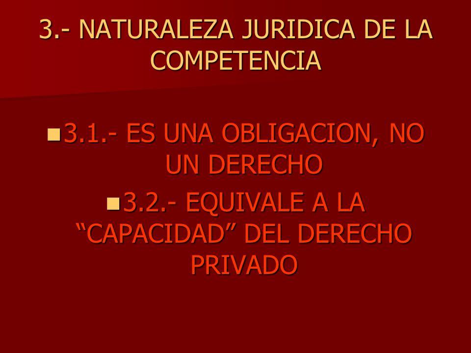 3.- NATURALEZA JURIDICA DE LA COMPETENCIA