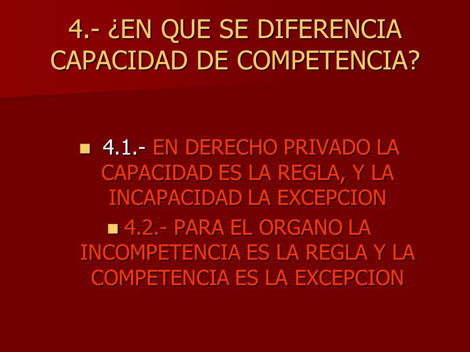 4.- ¿EN QUE SE DIFERENCIA CAPACIDAD DE COMPETENCIA