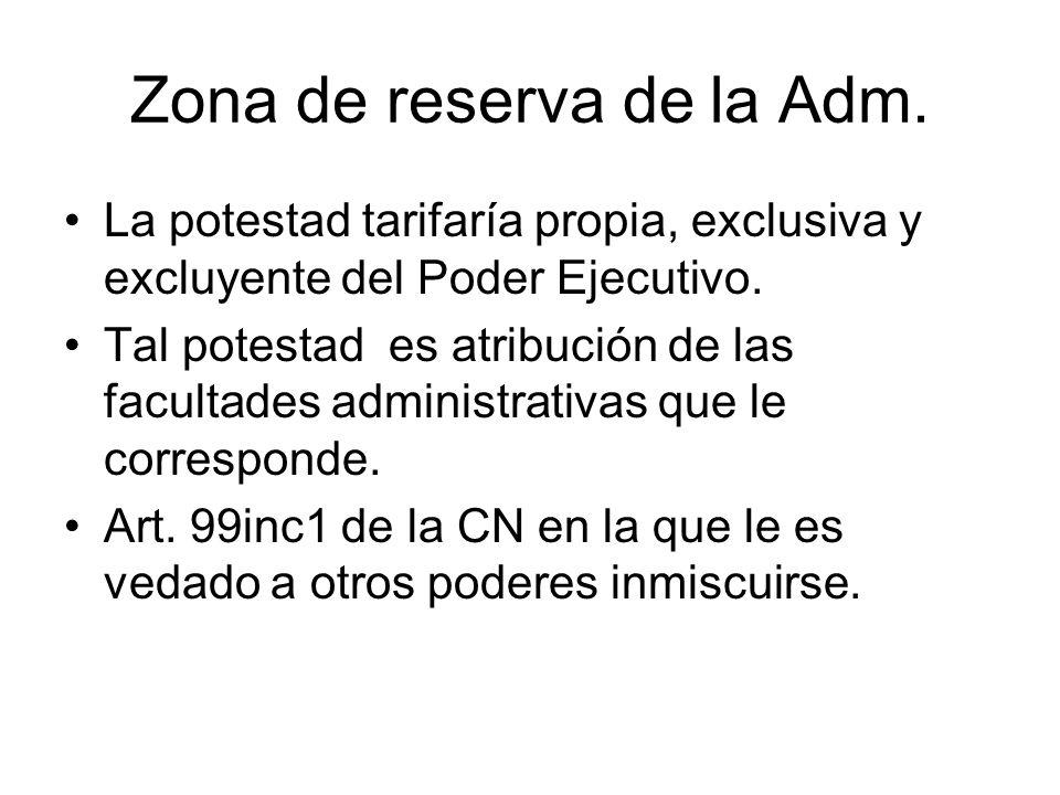 Zona de reserva de la Adm.