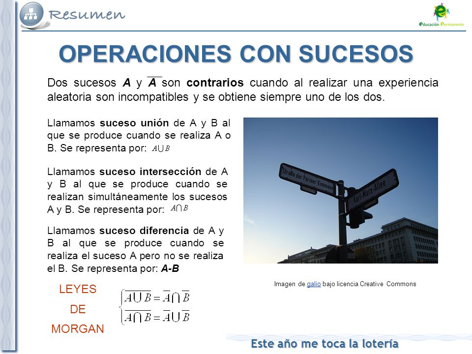OPERACIONES CON SUCESOS