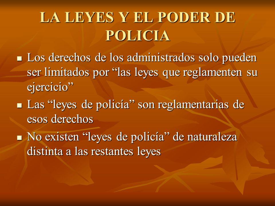 LA LEYES Y EL PODER DE POLICIA