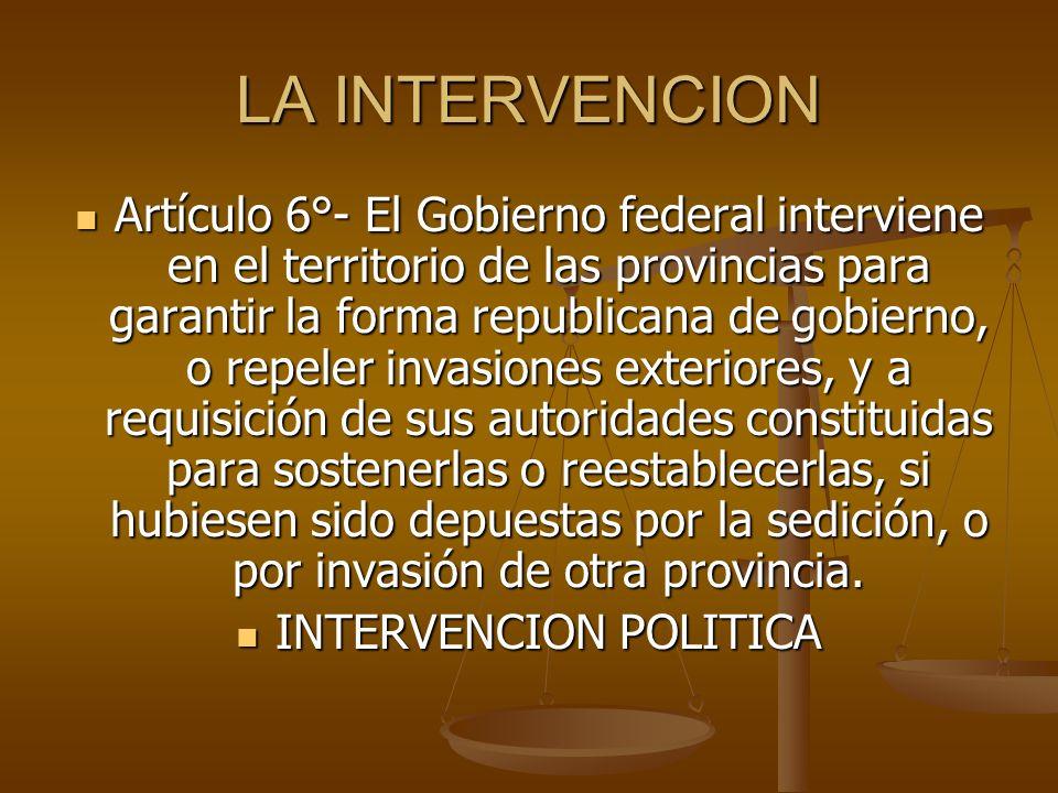 INTERVENCION POLITICA