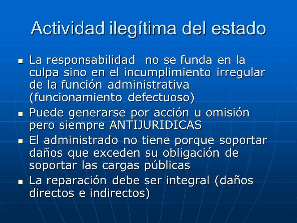 Actividad ilegítima del estado